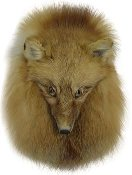 Red Fox Full Mask Head On Sporran