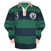 Croker Green and Navy Traditional LS Rugby