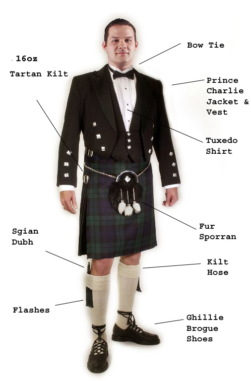 Complete Formal Prince Charlie with 16oz Kilt outfit