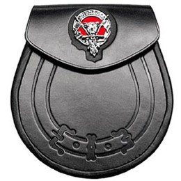 Leather Clan Crest Highlander Sporran