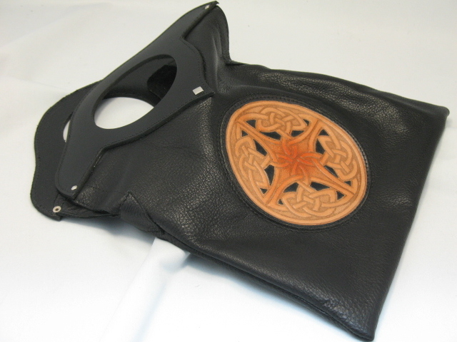Celtic Leather Purse - Black