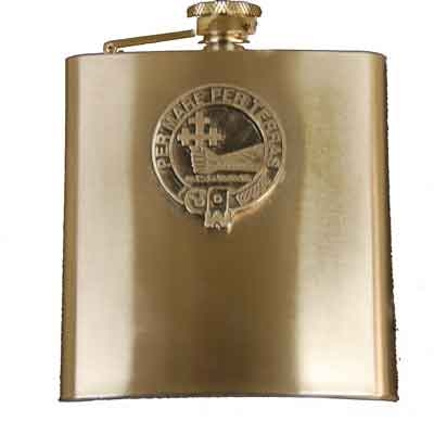Scottish Clan Crest Flasks