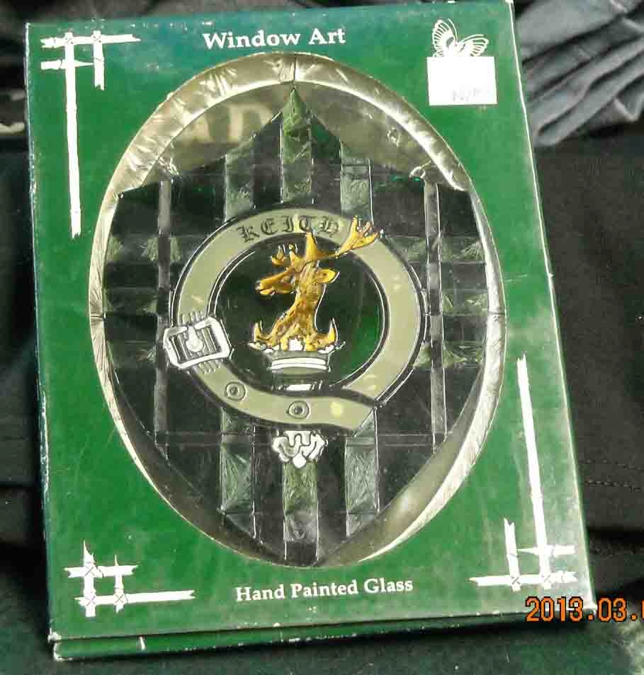 Keith Clan Crest Window Art