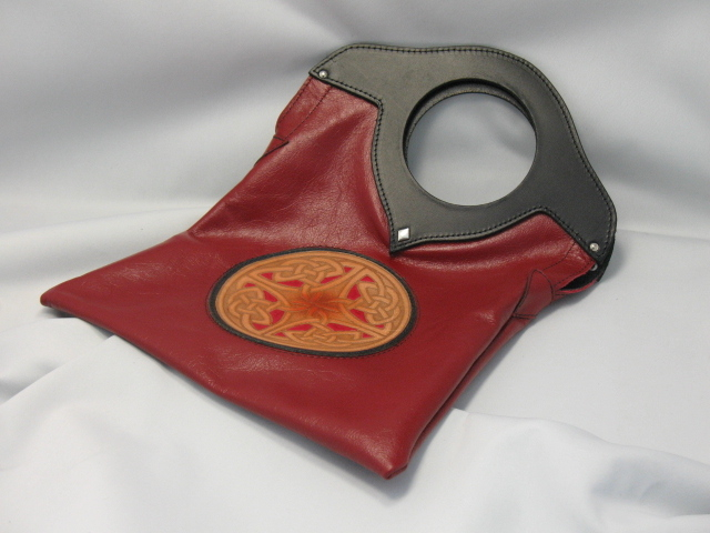 Celtic Leather Purse - Milano Red