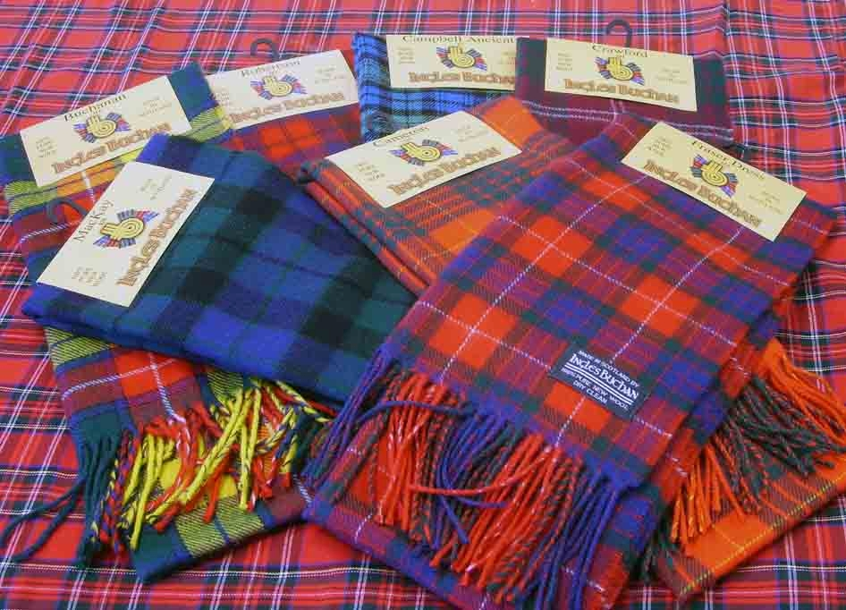 Scottish Tartans brushed wool scarves