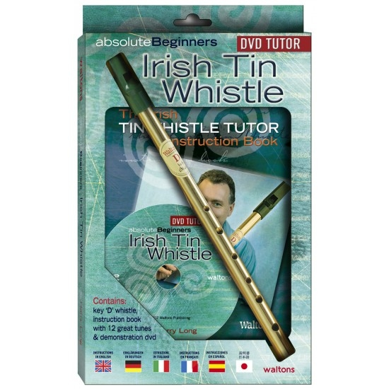 Irish Tin Whistle with book & DVD