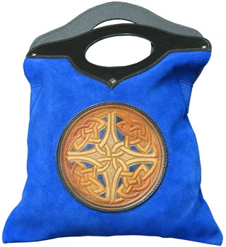 Celtic Leather Purse - Blue