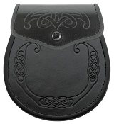 """Seamus"" Celtic Embossed Leather Sporran"