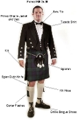 Kilt rental Outfit labeled