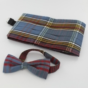 Tartan Cummerbund and Bow Tie set