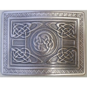 Antique Silver Highland Swirl Kilt Belt Buckle