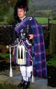 Pipers Long Plaid --Purled Fringe