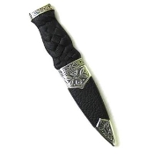 Rope Handle, Plain top - Celtic Metalwork Sgian Dubh