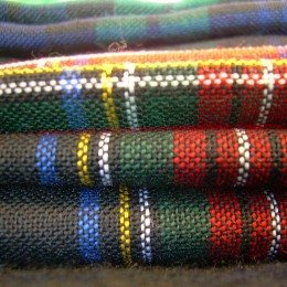 13 Ounce Irish County Tartan Fabric