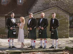 Kilted wedding party
