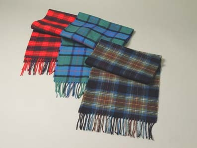 Scottish Lambs Wool Tartan Scarves
